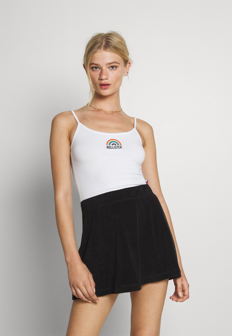 Hollister Co. - PRIDE CROP BABY CAMI - Top - white