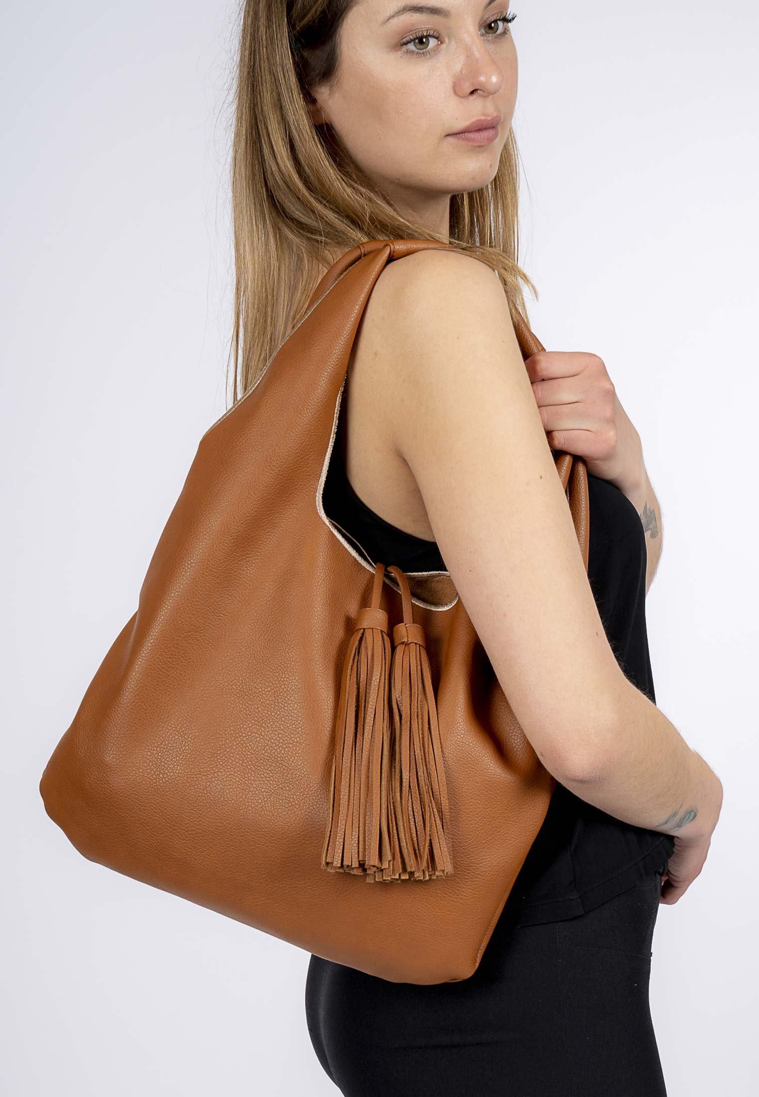 Damen Shopping Bag - cognac