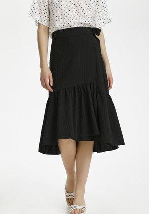 KAJOLLIE  - Wrap skirt - black deep