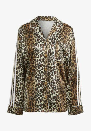 LEOPARD - Button-down blouse - brown