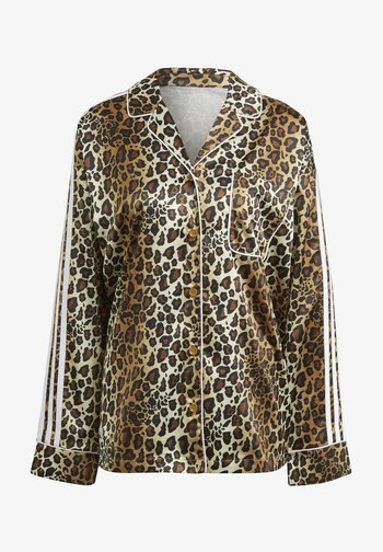 LEOPARD - Button-down blouse - brown