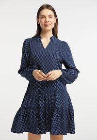usha - Day dress - marine - 0