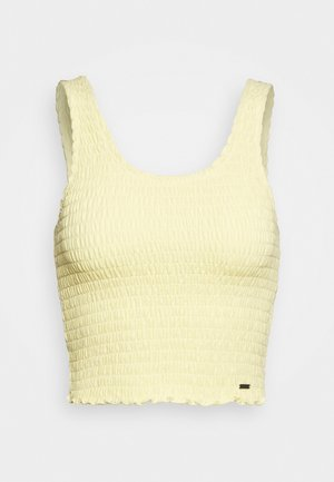 SMOCKED BOY TANK - Linne - yellow
