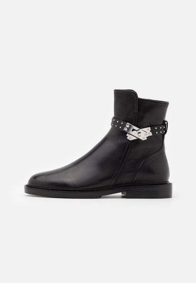 Støvletter - black/silver