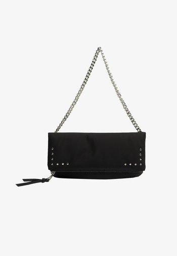 MIT TASCHE UND KUGELN - Across body bag - black
