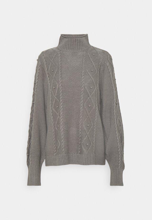 VIEVALLI HIGH NECK - Maglione - medium grey melange