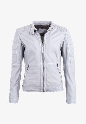 LEICHT TAILLIERT - Leather jacket - grau