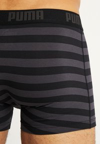 Puma - STRIPE BOXER 2 PACK - Panties - black - 3