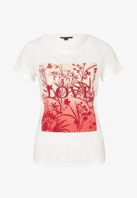 comma - MIT SCHMUCKSTEIN-APPLIKATION - Print T-shirt - white - 4