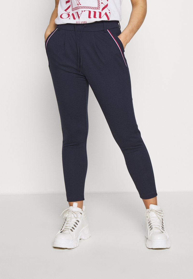 ONLY Petite - ONLPOPTRASH EASY NEW SPORTY TAPE PETIT - Trousers - night sky