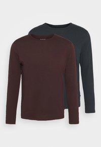 Burton Menswear London - LONG SLEEVE CREW 2 PACK - Long sleeved top - bordeaux - 4