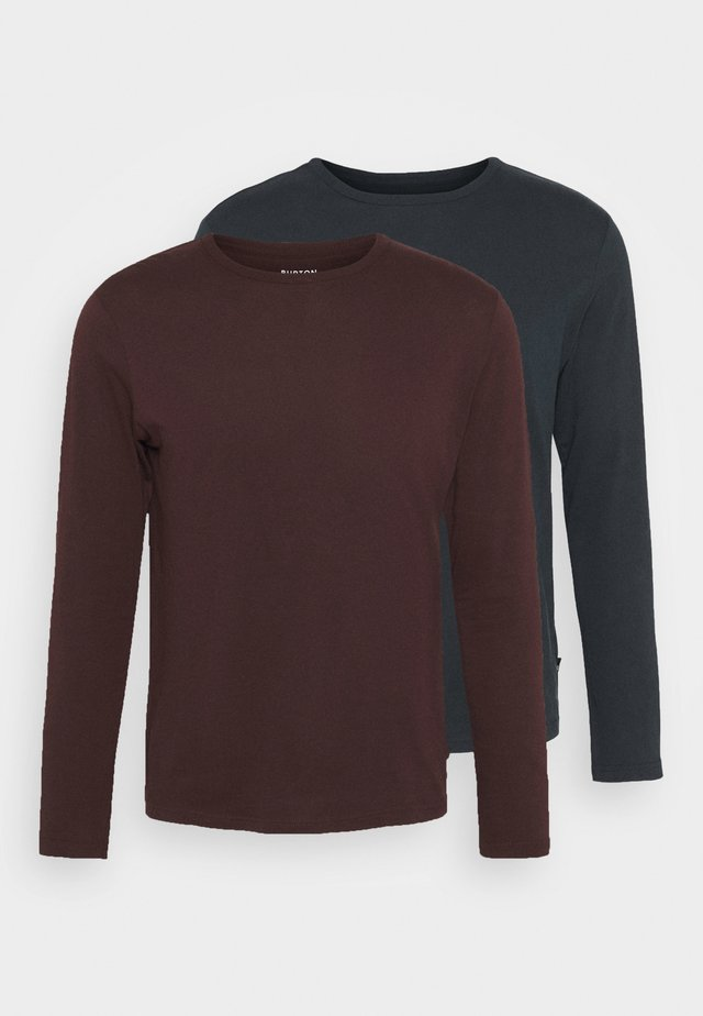 LONG SLEEVE CREW 2 PACK - Long sleeved top - bordeaux