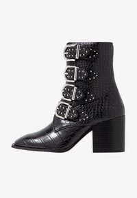 Faith - BRILLIANT - Cowboy/biker ankle boot - black - 1