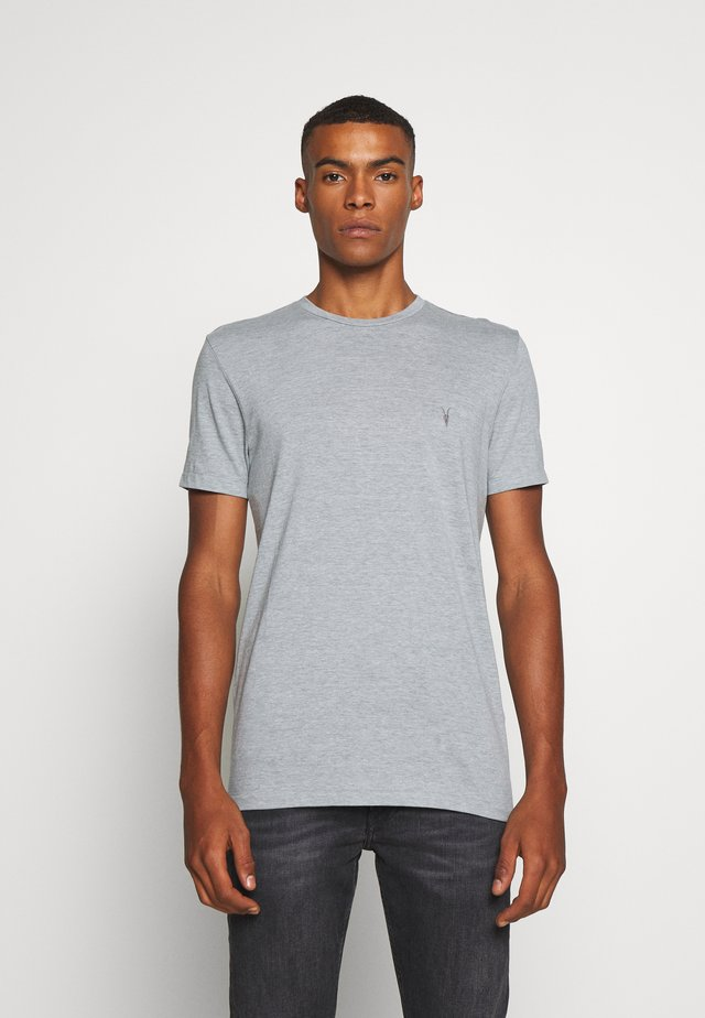 TONIC CREW - Basic T-shirt - line grey marl