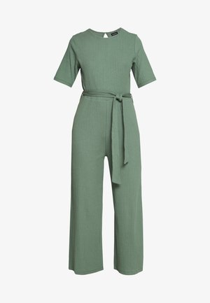 BASIC - Jumpsuit with belt - Combinaison - khaki