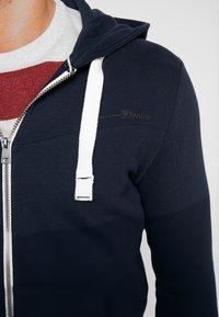 TOM TAILOR DENIM - CUTLINE  - Zip-up hoodie - sky captain blue - 4