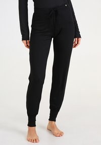 Esprit - SINGLE PANTS - Pyjama bottoms - black - 0