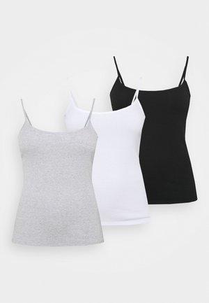 PACK 3 CAMIS - Top - black/grey/white