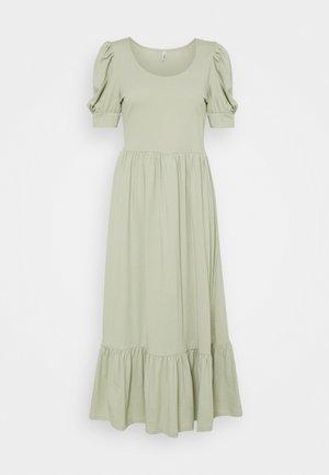 ONLMAY LIFE PUFF DRESS - Maxi dress - desert sage