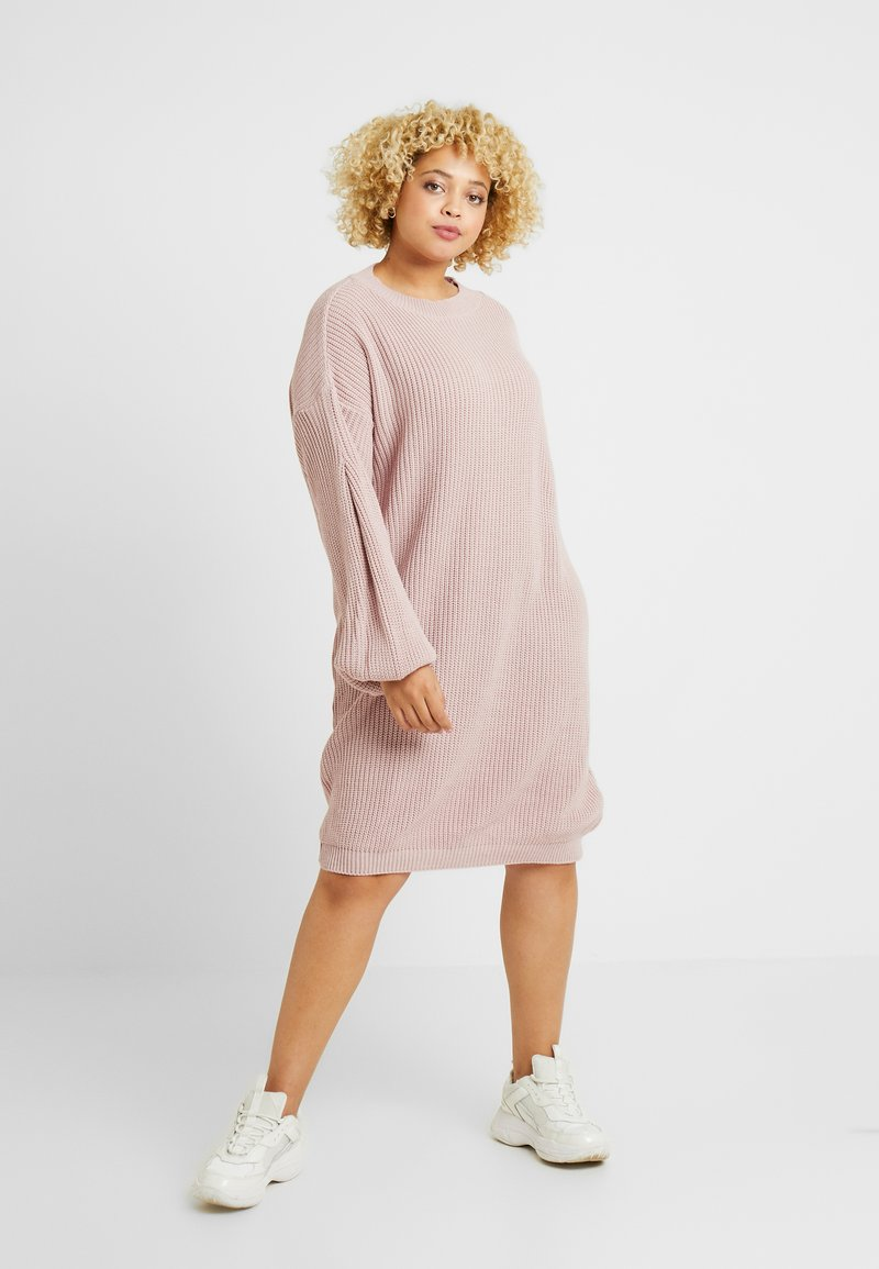 Glamorous Curve - EXCLUSIVE DRESS  - Gebreide jurk - mauve