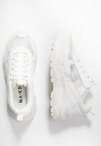 NA-KD - MIX CHUNKY TRAINERS - Tenisky - white - 3