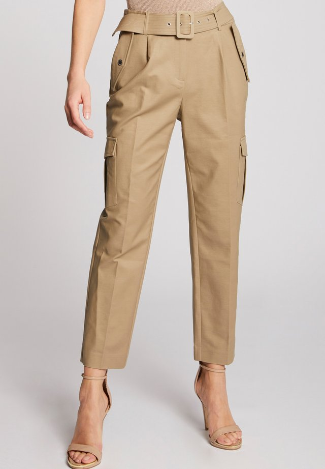 Pantalones cargo - dark brown