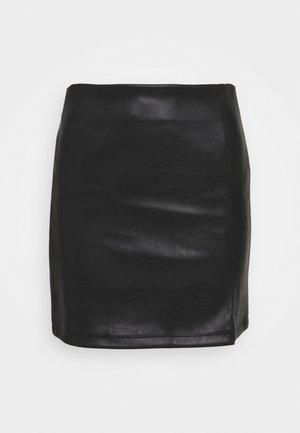SPLIT SKIRT - Minisukně - black