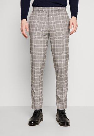 COOK POW CHECK - Jakkesæt bukser - grey
