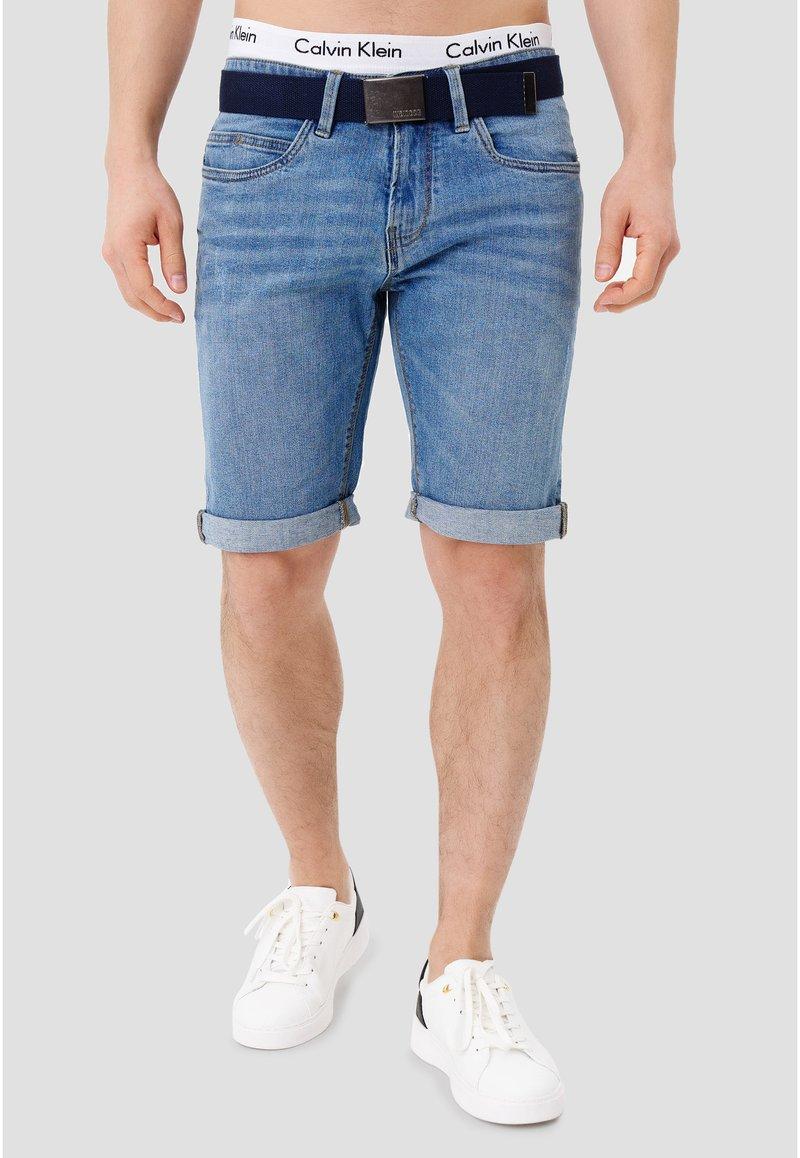 INDICODE JEANS - CUBA CADEN - Denim shorts - blue