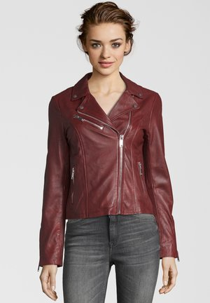 GHOST - Leather jacket - red