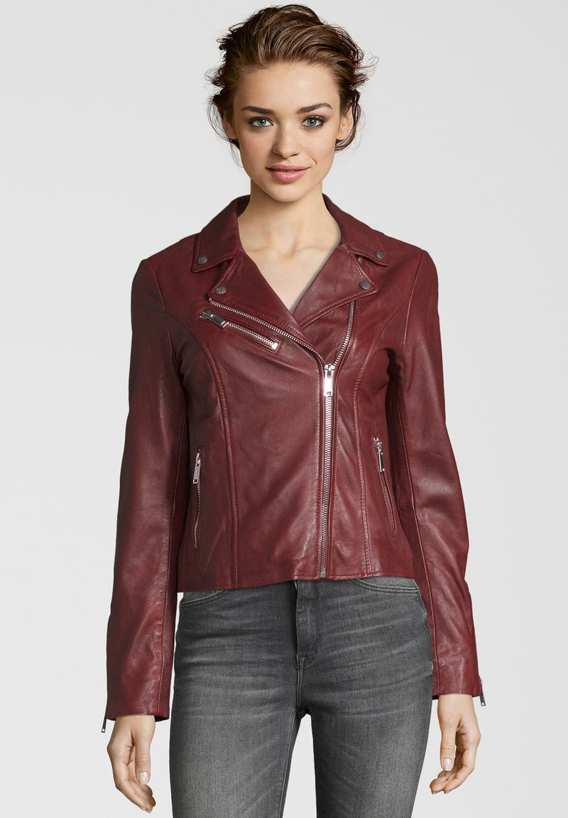Apple of Eden - GHOST - Leather jacket - red