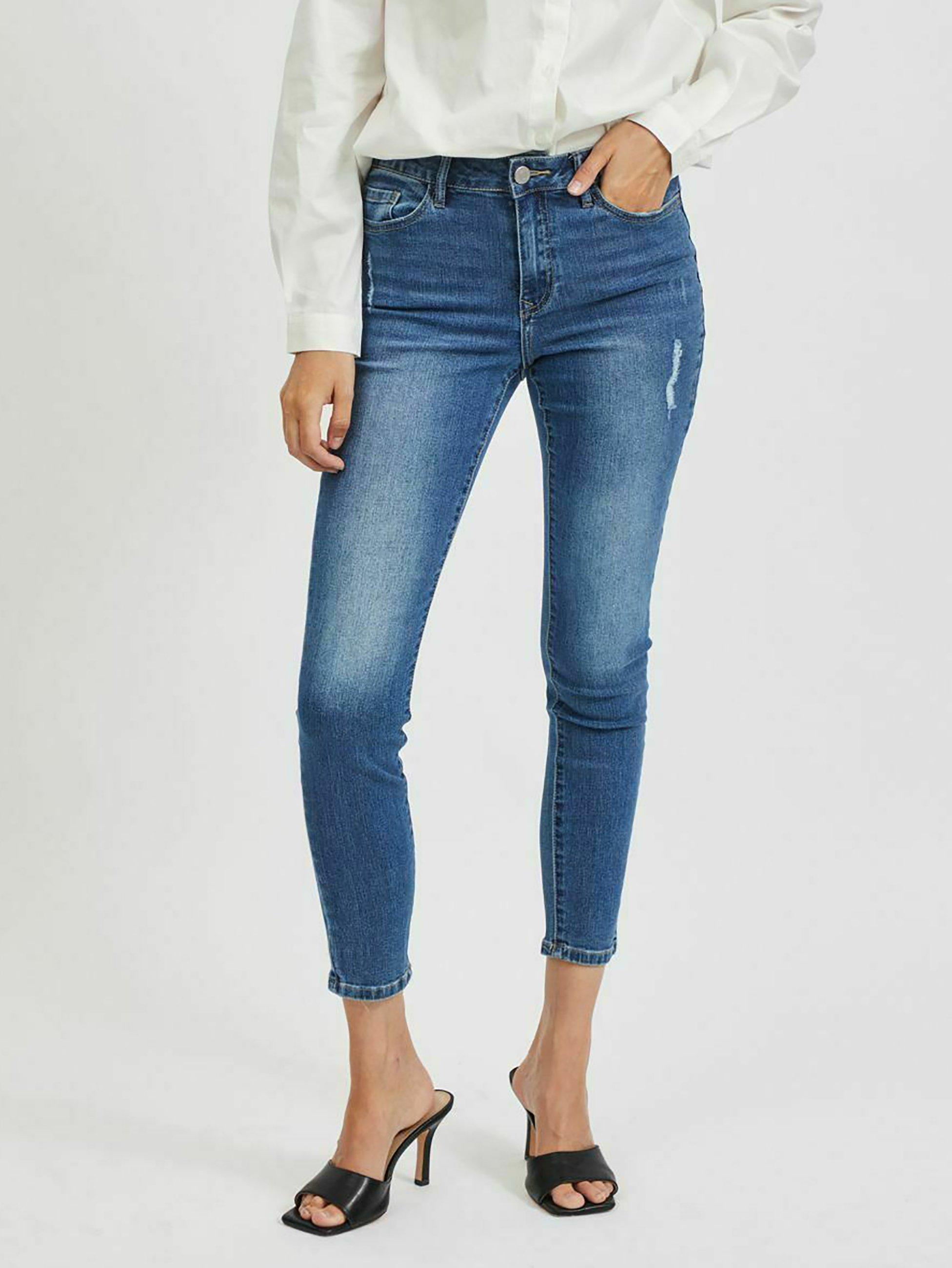 Damen Jeans Skinny Fit - medium blue denim