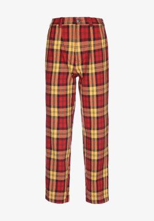 Trousers - fiery red
