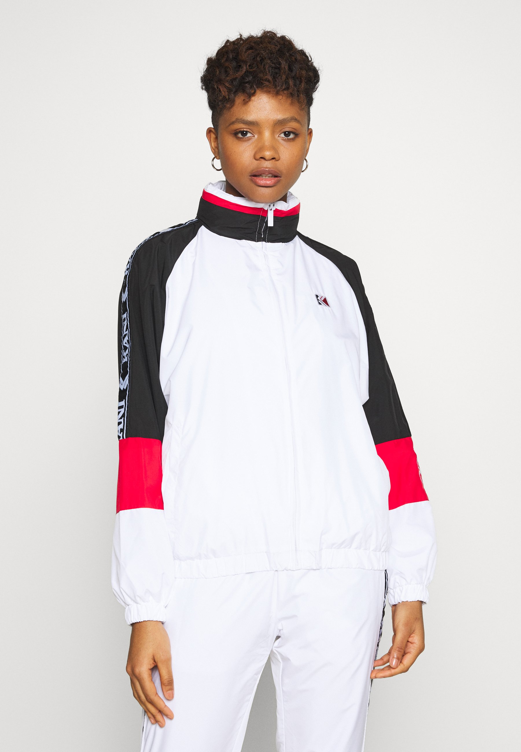 Recommend Cheap Women's Clothing Karl Kani TAPE BLOCK Training jacket white skpuTaD4w