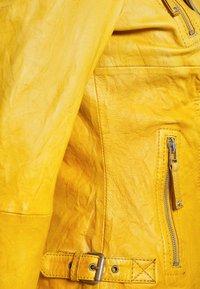 Freaky Nation - BIKER PRINCESS - Leather jacket - halo yellow - 6
