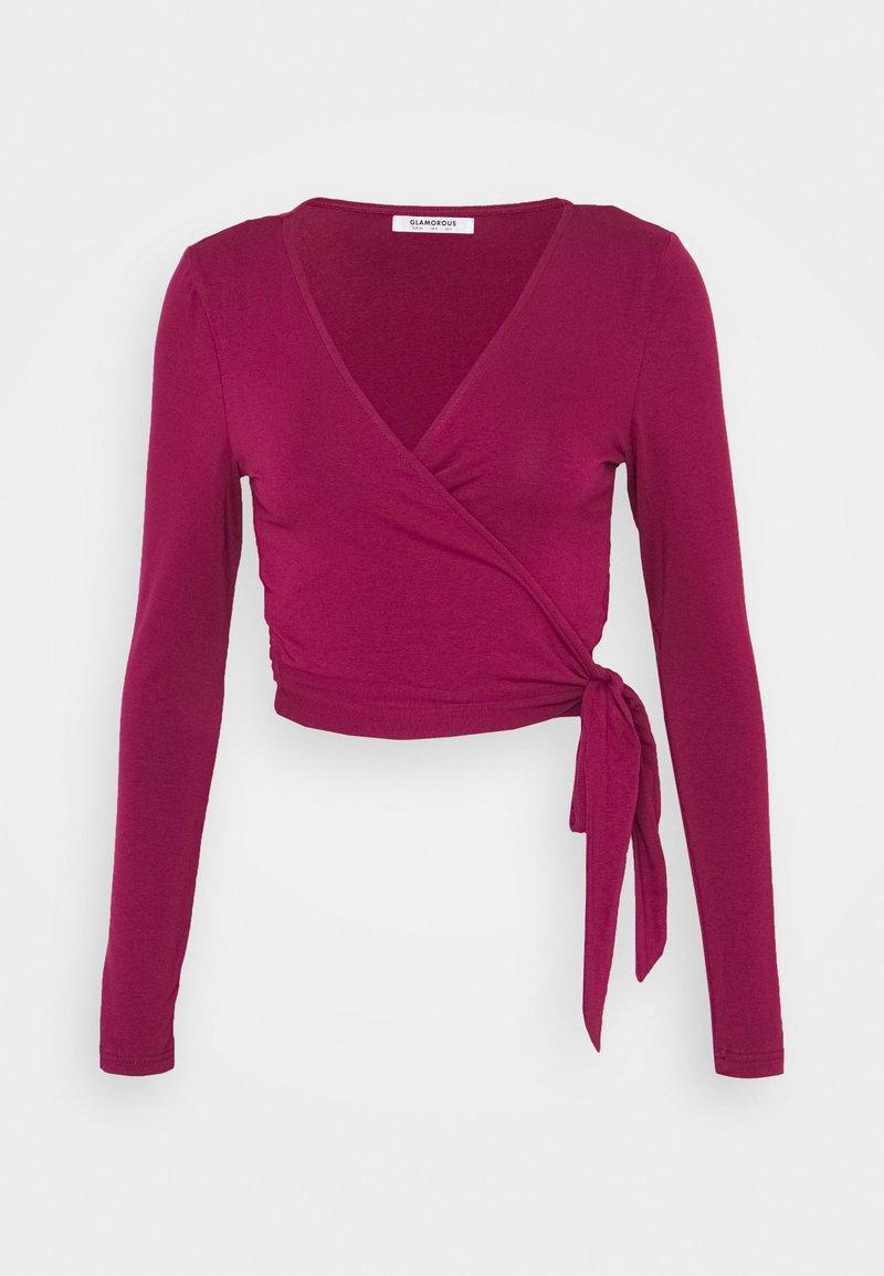 Glamorous - Long sleeved top - burgundy