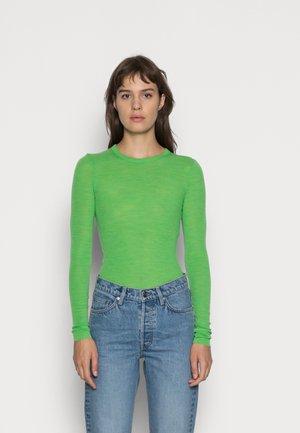 Long sleeved top - neon green melange