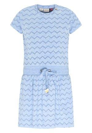 MAGY CHEVRON - Day dress - light blue