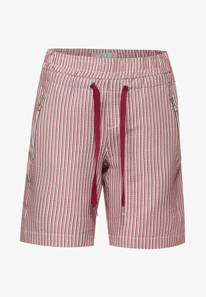 MIT ZIPPER - Shorts - rot