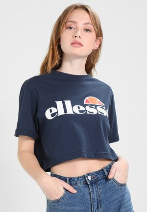 ALBERTA CROP  - Camiseta estampada - dress blues