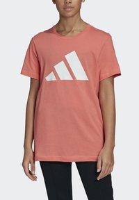 adidas Performance - LOGO T-SHIRT - Print T-shirt - red - 4