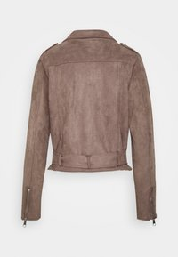 Nly by Nelly - BIKER JACKET - Faux leather jacket - brown - 1