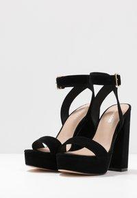 Even&Odd - LEATHER - Sandaler med høye hæler - black - 4