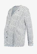 SPOT PLEAT - Button-down blouse - white