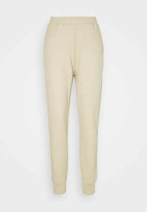 RELAXED FIT WAFFLE JOGGERS - Pantalon de survêtement - beige