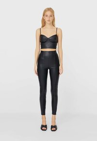 Stradivarius - Leggings - Trousers - black - 1
