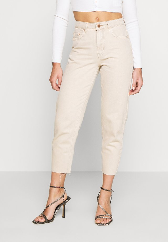 RAW HEM - Straight leg jeans - beige