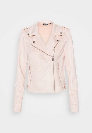 VMBOOSTBIKER SHORT JACKET - Faux leather jacket - sepia rose