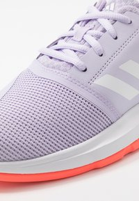 adidas Performance - COURTJAM - Clay court tennis shoes - purple tint/foowear white/signal coral - 2