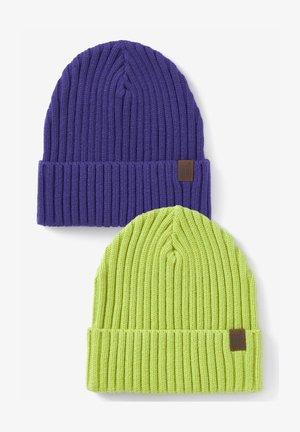 2 PACK - Beanie - purple/neon green